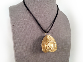3rd Order Lighthouse Lens Pendant in Natural Brass