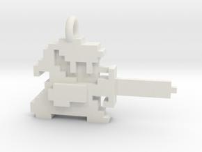 Zelda Link 8 bit Pendant necklace all materials in White Natural Versatile Plastic