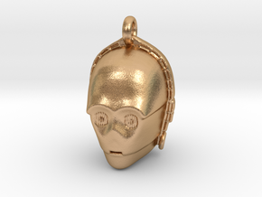 Star wars C3PO Pendant necklace all materials in Natural Bronze