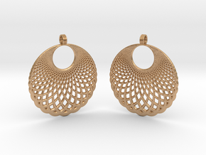 Helix Earrings in Natural Bronze