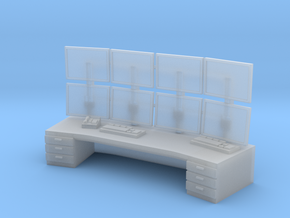 HO Scale Control Center Workstation in Smooth Fine Detail Plastic