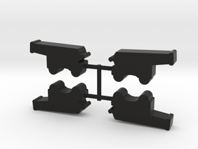 Ship's Cannon Meeple, wheeled, 4-set in Black Natural Versatile Plastic