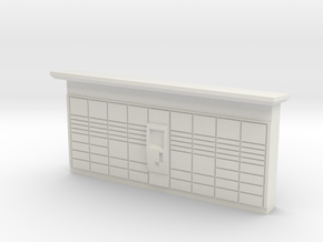 N Scale DHL Packstation in White Natural Versatile Plastic