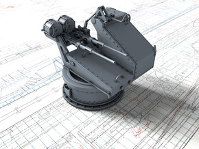 1/72 Twin 20mm Oerlikon Powered MKV Mount in Smooth Fine Detail Plastic
