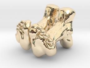 Feet Cufflinks in 14k Gold Plated Brass