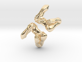 Shoulders and Arms Cufflinks in 14k Gold Plated Brass