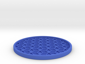 Drink Coaster (6) in Blue Processed Versatile Plastic