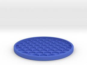 Drink Coaster (5) in Blue Processed Versatile Plastic