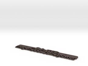 Mugen Exhaust Emblem in Polished Bronzed-Silver Steel