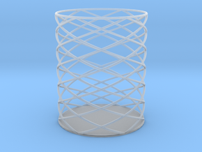 Spiral Hex Pencil Holder in Smooth Fine Detail Plastic