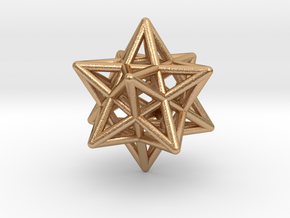 Small Stellated Dodecahedron Pendant in Natural Bronze