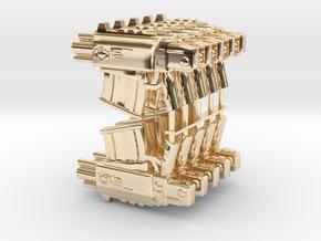 Bolter v1 SET10 in 14k Gold Plated Brass