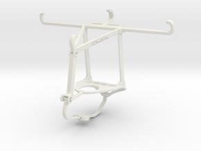 Controller mount for Nimbus & Apple iPhone X - Top in White Natural Versatile Plastic