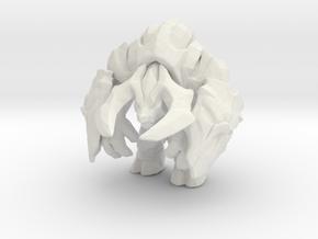 Minotaur Berserker 1/60 miniature for games andRPG in White Natural Versatile Plastic