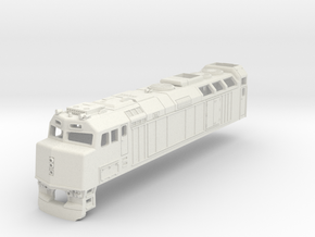 F40 Via Rail Locomotive  in White Natural Versatile Plastic