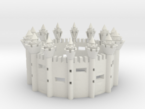 CASTLE RING  in White Natural Versatile Plastic