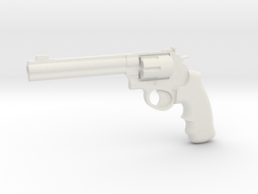 1:3 Miniature .44 Remington Magnum Handgun in White Natural Versatile Plastic