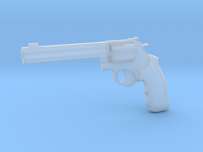 1:3 Miniature .44 Remington Magnum Handgun in Smooth Fine Detail Plastic