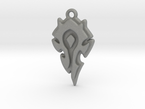 World Of Warcraft Horde Pendant all materials in Gray PA12