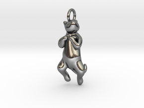 cat_013 in Polished Silver