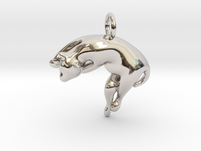 cat_018 in Rhodium Plated Brass