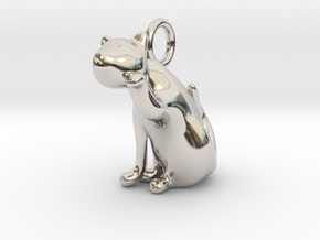 cat_020 in Rhodium Plated Brass