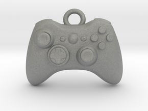 Xbox Controller Pendant necklace all materials in Gray PA12