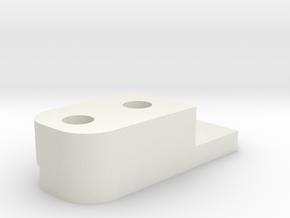 08.01.03.08.01 Gate Block Inner Plate in White Natural Versatile Plastic