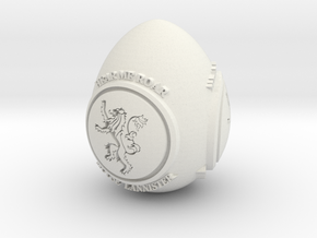 GOT House Lannister Easter Egg in White Natural Versatile Plastic