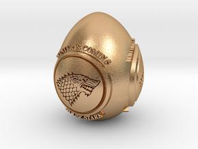 GOT House Stark Easter Egg in Natural Bronze