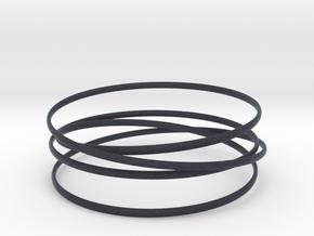 Multispire floating bracelet in Black PA12: Small