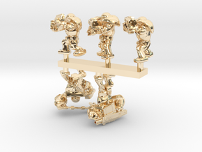 SPACE MARINERS COMBAT 5MARINERS in 14k Gold Plated Brass