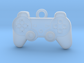 PlayStation Controller Pendant all materials gamer in Smooth Fine Detail Plastic