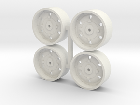 1/64 IH 86 series and 2+2 wheels x 4 in White Natural Versatile Plastic