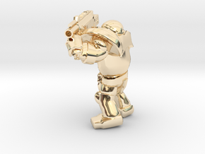 SPACEMARINER 3 BOLTER version2 in 14k Gold Plated Brass