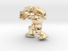 SPACEMARINER 4 SHOTGUN in 14k Gold Plated Brass