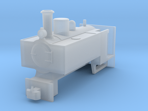 OO9 Decauville Mining 0-4-0T for Tsuwaga Chassis in Smooth Fine Detail Plastic