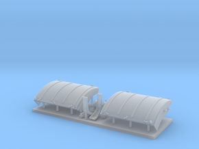 Panther D/A fenders with stowed extensions in Smooth Fine Detail Plastic