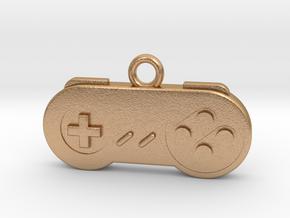 Super Nintendo Controller Pendant all materials ga in Natural Bronze