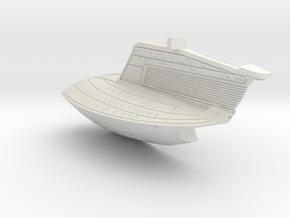 1/1400 USS Ambassador proposal Right Secondary Hul in White Natural Versatile Plastic