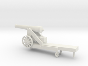 1/48 Scale Civil War 32-pounder M1845 Seacoast Gun in White Natural Versatile Plastic