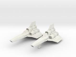 BSG - Colinial Viper MK1  dual seater Landing gear in White Natural Versatile Plastic