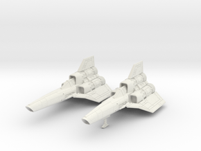 BSG - Colinial Viper MK1 landing gear down in White Natural Versatile Plastic