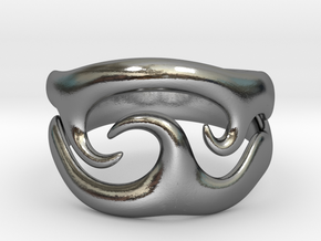 Tribal wave ring in Polished Silver: 5.5 / 50.25