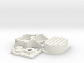 Barrage 1/24 Transmission for 180 motor in White Natural Versatile Plastic