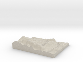 Model of Floessplatz in Natural Sandstone