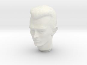 1/6 Terminator Head Sculpt for Action Figures in White Natural Versatile Plastic