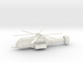 Warrior H8 Mechanized Helicopter Unit  in White Natural Versatile Plastic