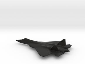 Sukhoi Su-57 (w/o landing gears) in Black Natural Versatile Plastic: 1:200
