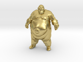 Left4Dead Zombie Boomer 1/60 miniature for games in Natural Brass